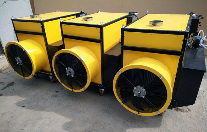 2 Duct Portable Waste Oil Heater , Chicken House Heaters CE Approved